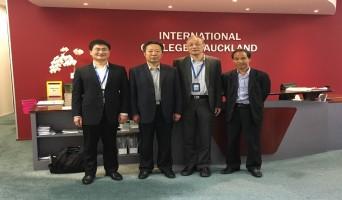 青海大学(Qinghai University)副校长陈刚访问奥克兰国际学院